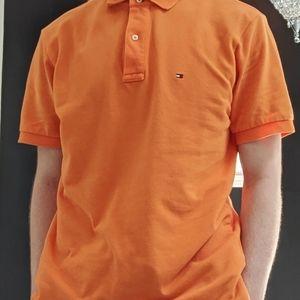 Tommy Hilfiger Orange Polo Shirt